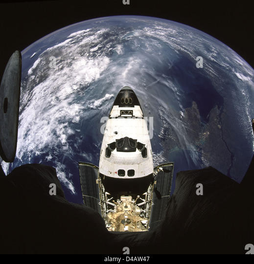 Earth and Space Shuttle Atlantis - Stock Image