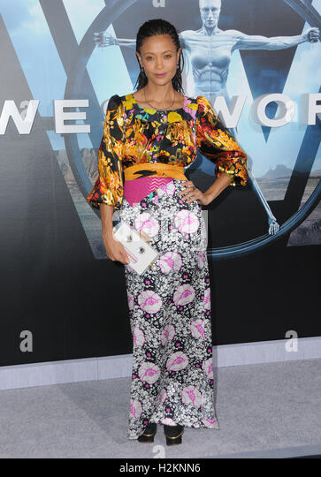 Hollywood, CA, USA. 28th Sep, 2016. 28 September 2016 - Hollywood, California. Thandie Newton. Los Angeles premiere - Stock Image