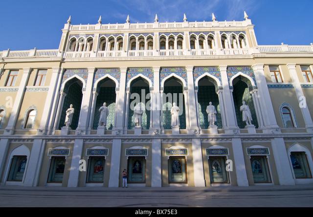 Nizami Museum of Azerbaijan Literature, Baku, Azerbaijan, Central Asia, Asia - Stock Image