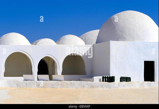 South of Tunisia, Djerba,the ancient Fadh Loon mosque - Stock-Bilder