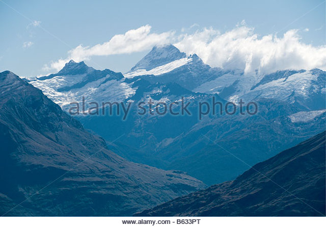 Mount Aspiring from Roys Peak, Wanaka, South Island, New Zealand - Stock Image