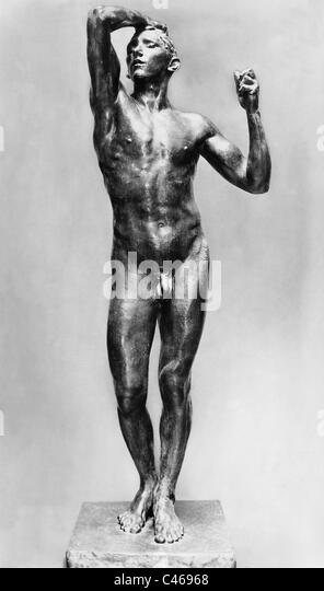 Plastic 'The Age of Bronze' by Auguste Rodin - Stock Image