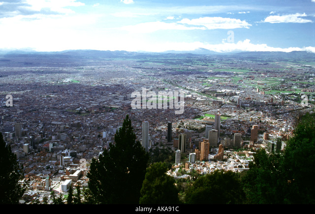 Santa Fe de Bogota.View from Monserrate hill.Colombia - Stock Image