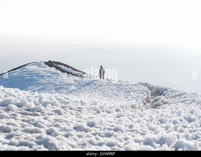 Journey up Mount Rainier - Stock Image