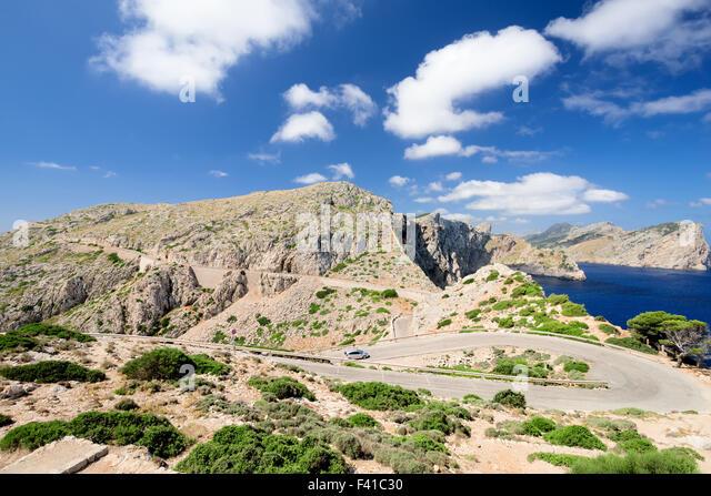 Road at Majorka Spain - Stock Image