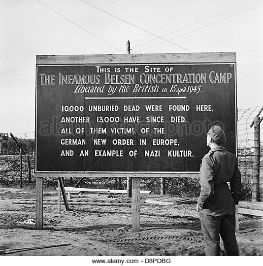 The Liberation of Bergen-belsen Concentration Camp, May 1945 BU6955. - Stock Image