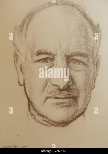 Portrait of The Right Honourable Lord Melchett of Landford - Stock Image