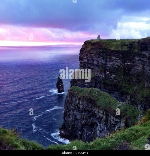 The cliffs of moher at sunset. County Clare, Ireland. - Stock-Bilder