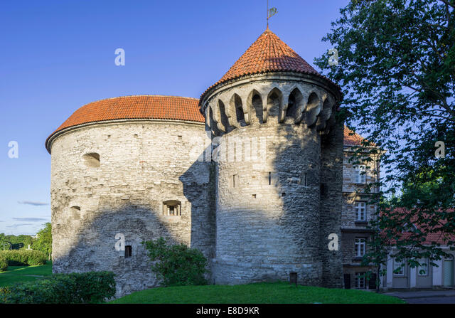 Fat Margaret Tower, location of the Estonian Maritime Museum, Vanalinn, Tallinn, Harju, Estonia - Stock Image