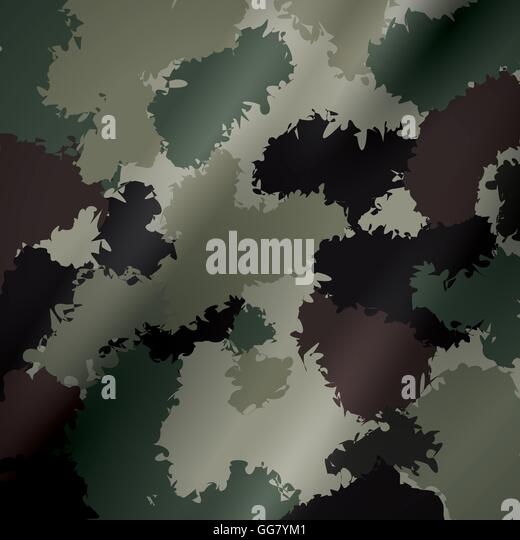 print armed forces military icon. Vector graphic - Stock Image