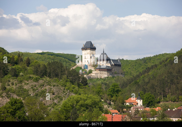 Karlstejn czech republic - Stock-Bilder