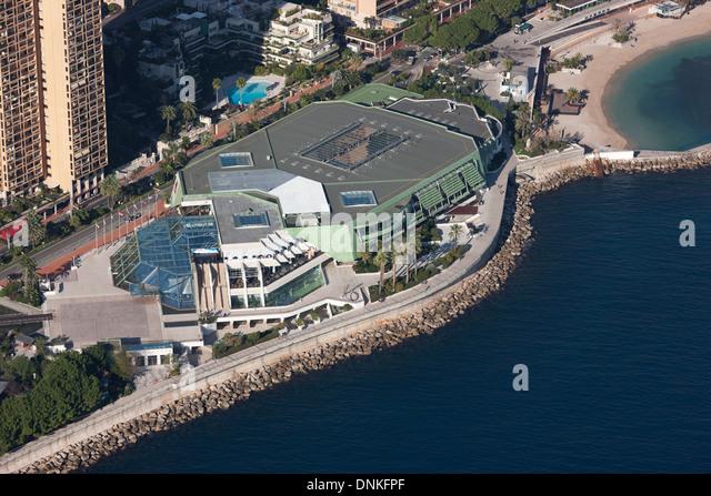 CONGRESS & CULTURAL CENTER (aerial view). Grimaldi Forum, District of Larvotto, Principality of Monaco. - Stock Image