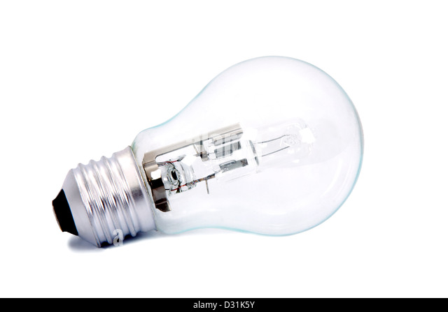 light bulb isolated on white background, household appliances and industry - Stock Image