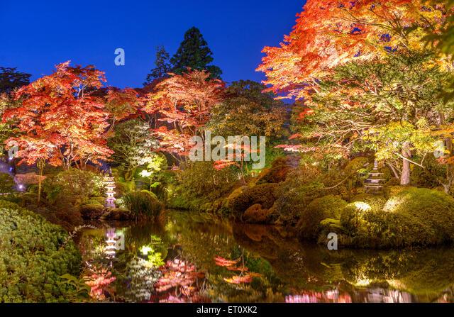 Nikko, Japan at Shoyo-en garden in the autumn. - Stock Image