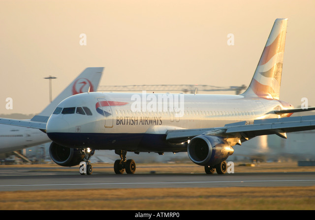 British Airways Airbus A320-111 at London Heathrow Airport - Stock Image