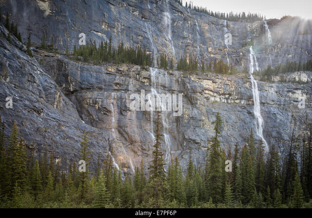Weeping Wall, Icefields Parkway, Banff National Park, Alberta, Canada, North America. - Stock Image