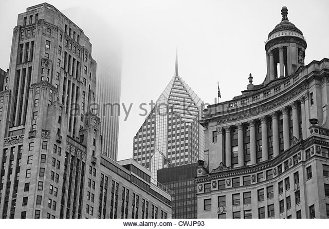 Chicago highrise buildings - Stock Image