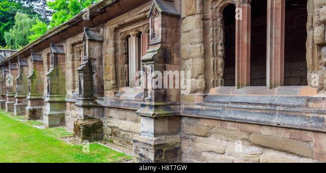 A row of stone buildings in Herefordshire. - Stock Image