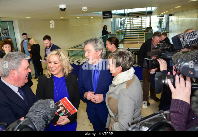Armagh City, UK. 15th February 2017. Sinn Féin Party launch Manifesto in Armagh City ahead of March Elections. - Stock Image