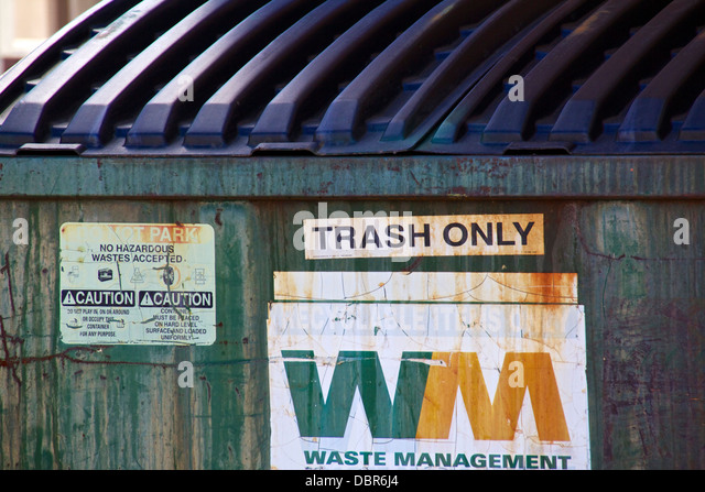 Trash dumpster. - Stock Image