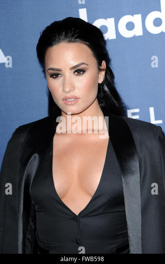 Beverly Hills, USA. 02nd Apr, 2016. Demi Lovato at the 27th Annual GLAAD Media Awards held at the Beverly Hilton - Stock Image