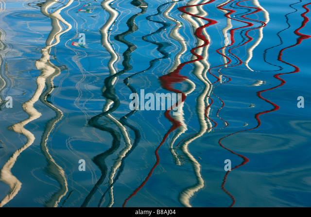 Reflections Yachts Trogir Dalmatia Croatia - Stock Image