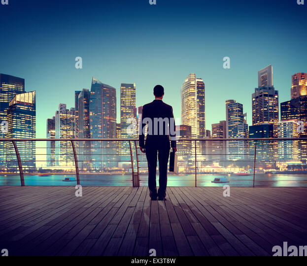 Businessman Corporate Cityscape Urban Scene City Building Concept - Stock Image
