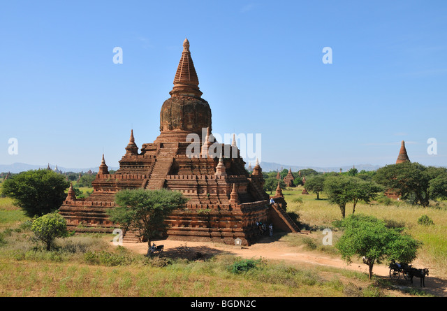 Ancient Pagoda, Bagan, Burma, Myanmar - Stock-Bilder
