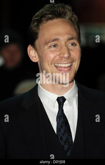 London, UK. 3rd December 2012. Actor Tom Hiddleston attends the UK Premiere of LIFE OF PI on 03/12/2012 at Empire - Stock-Bilder