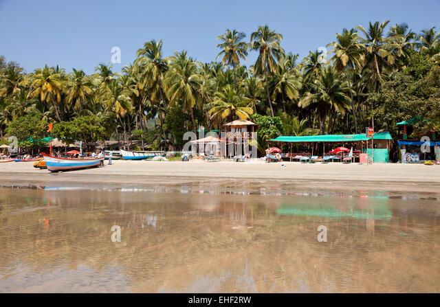 der Strand von Palolem, Goa, Indien, Asien  |  Palolem beach,  Palolem, Goa, India, Asia - Stock-Bilder