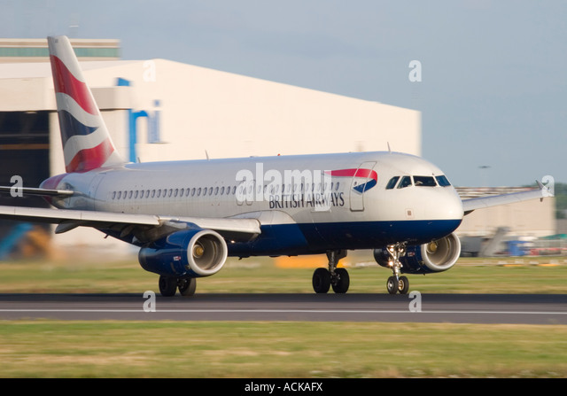 British Airways Airbus A320-232 at London Heathrow Airport England UK - Stock Image