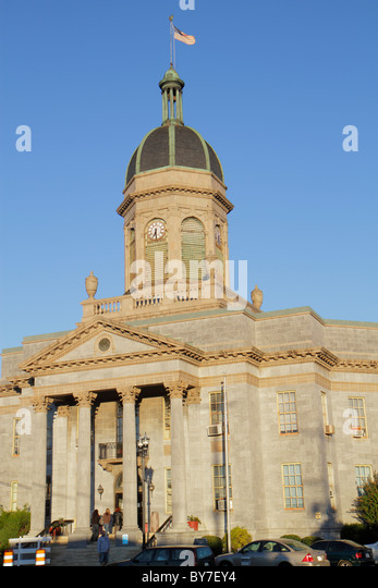 North Carolina Murphy small town Historical Cherokee County Courthouse Classical Revival architecture public building - Stock Image