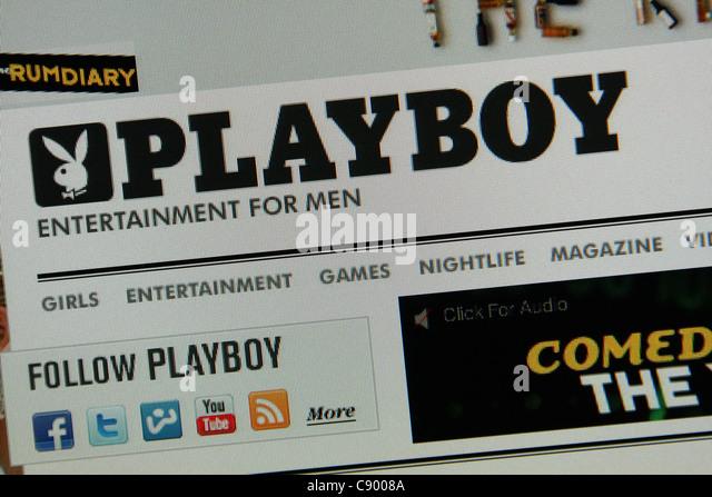 playboy playboy.com adult entertainment - Stock Image