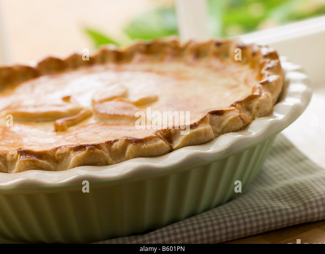 Baked Short Crust Pastry Pie - Stock Image