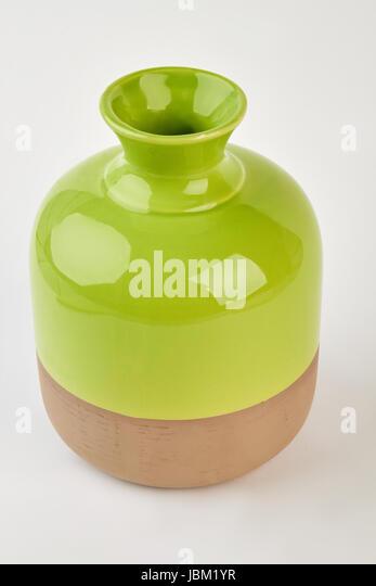 Two-tone shiny vase isolated. - Stock Image