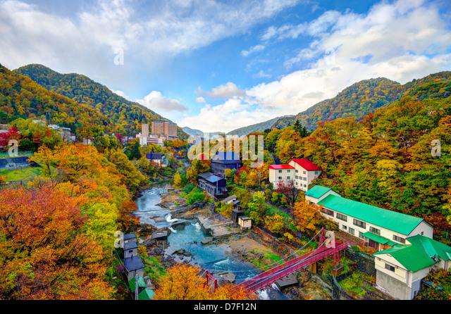 Jozankei, japan skyline - Stock Image