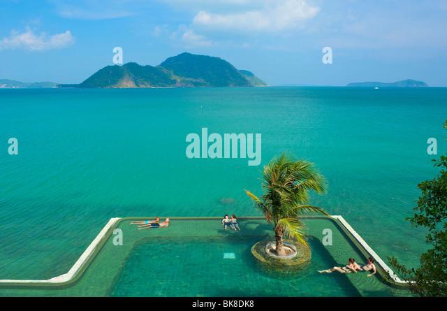 Pool, Evason Hotel, Phuket Island, Thailand, Asia - Stock-Bilder