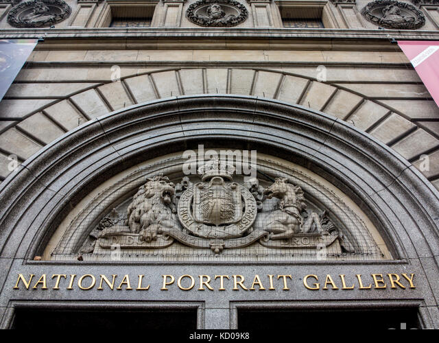 The National Portrait Gallery sign - Stock Image
