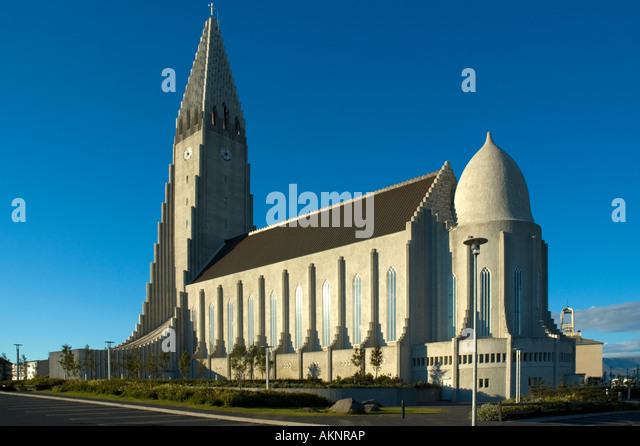 Hallgrímskirkja, the church of Hallgrímur, Reykjavik, Iceland - Stock Image