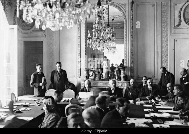 Conference of Spa 1920 - Leon Delacroix, Alexandre Millerand and Foch - Stock Image