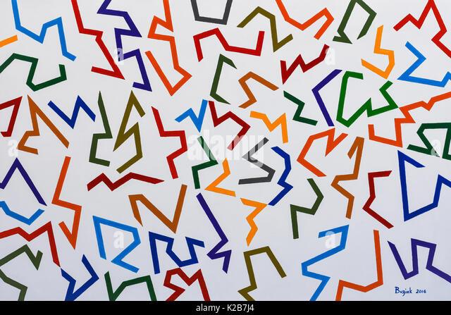 'Vauban Confused #2' - abstract artwork by Ed Buziak. - Stock Image