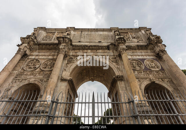The Arch of Constantine (Arco di Costantino), Rome, Italy - Stock Image