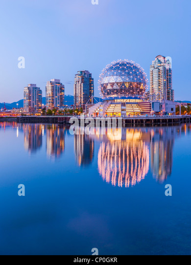 Telus Science World, Vancouver - Stock Image
