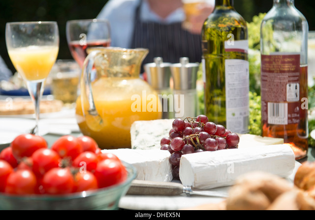 Food and drink still life, close up - Stock Image
