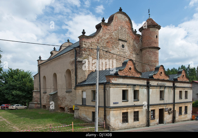 Lesko Synagogue - built in the first half of the 17th century, Bieszczady Poland Europe - Stock Image
