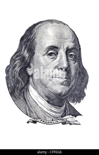 Benjamin Franklin. - Stock Image