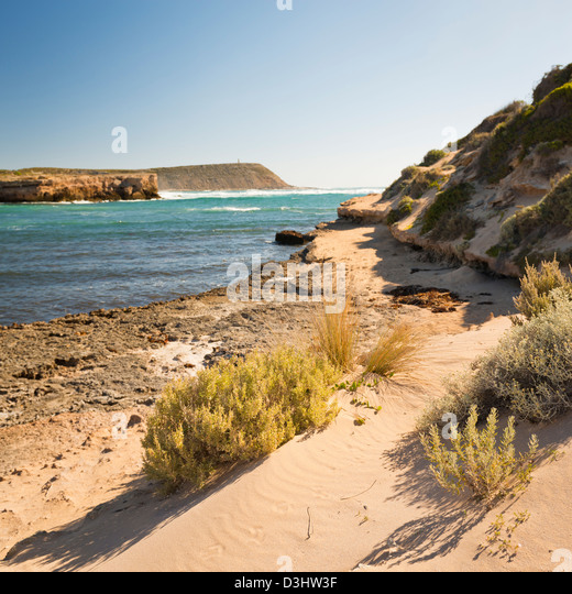 Views out to see from the Yorke Peninsula, South Australia - Stock Image