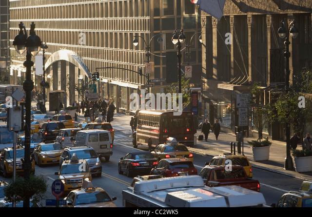 USA, New York City, Street scene - Stock Image