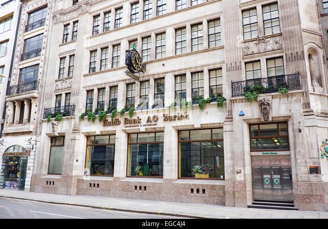 Habib Bank AG Zurich Moorgate City Of London UK - Stock Image