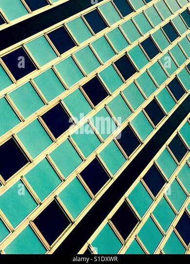 Tall blue office building - Stock-Bilder